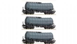 Roco 76155 DR 4-Axle Slurry Tankers, Era IV, 3-Wagon Pack
